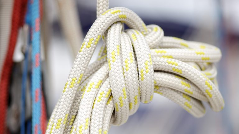 Rope on a sail boat